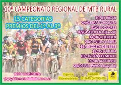10º CAMPEONATO REGIONAL DE MTB RURAL