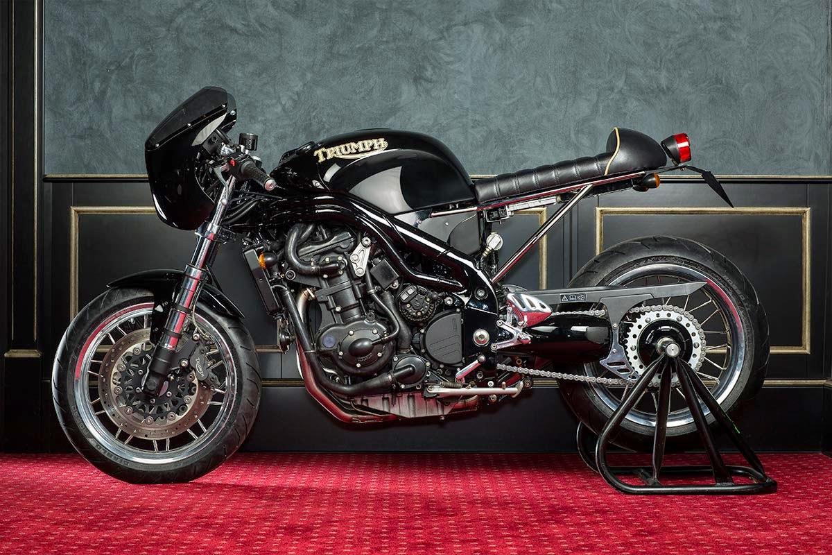 Racing Caf U00e8  Triumph  U0026quot Jerolamo Triple U0026quot  By Mrmartini