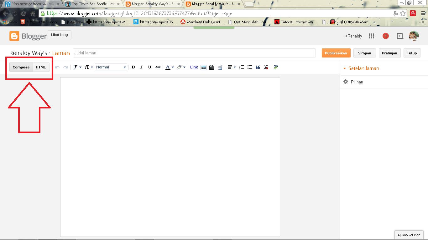 Cara Membuat Widget Tulisan Terbalik Di Halaman Statis Blog