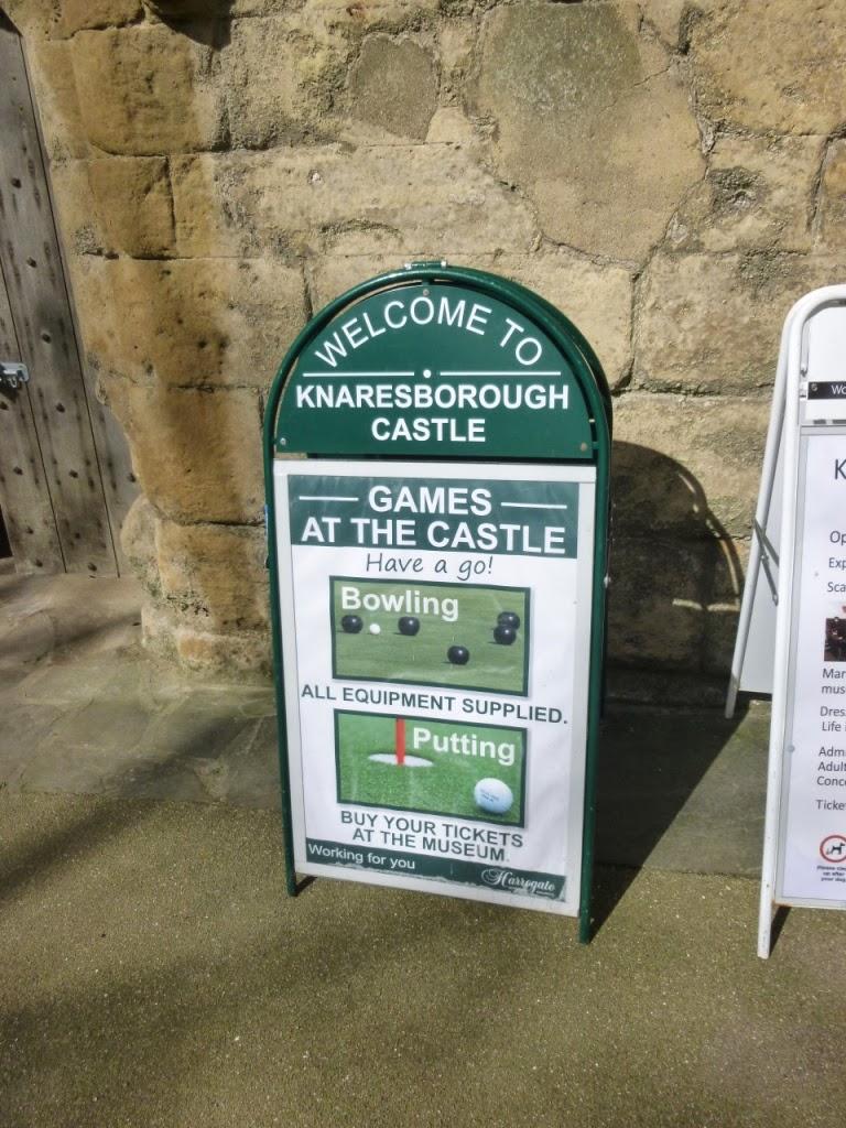Games at Knaresborough Castle - Putting and Bowling