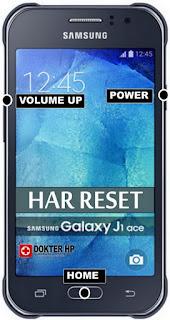 Hard Reset Samsung Galaxy J1 Ace Buka Pola