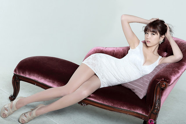 5 Lee Eun Hye in White Mini Dress-Very cute asian girl - girlcute4u.blogspot.com
