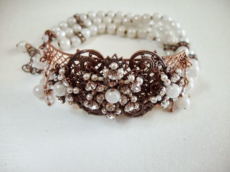 Prosser Armband perlen alte glas steine edelstein schmuck Perles ancienne de verre