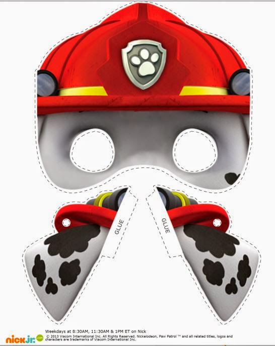 Playful image pertaining to paw patrol printable masks