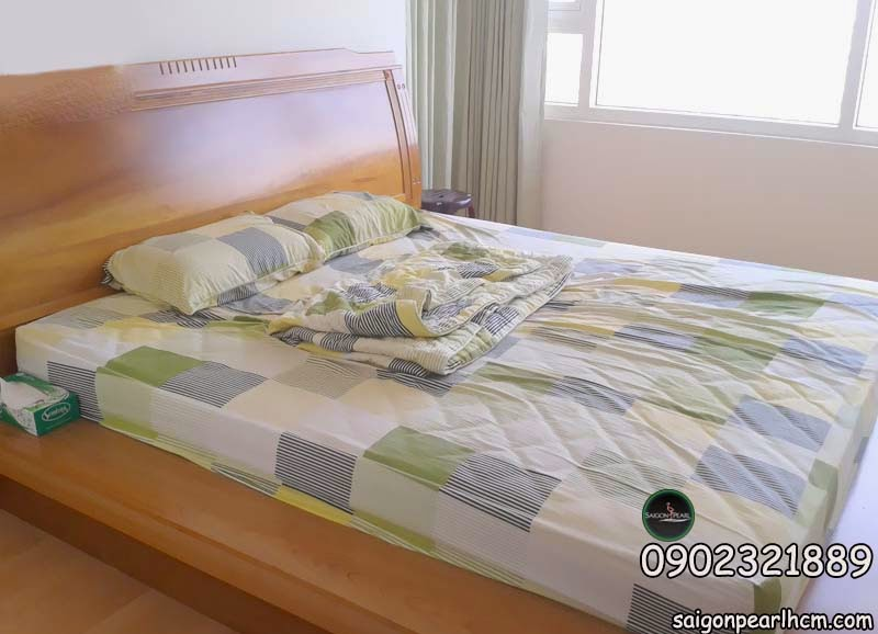 Phòng ngủ chính tại căn hộ saigon pearl