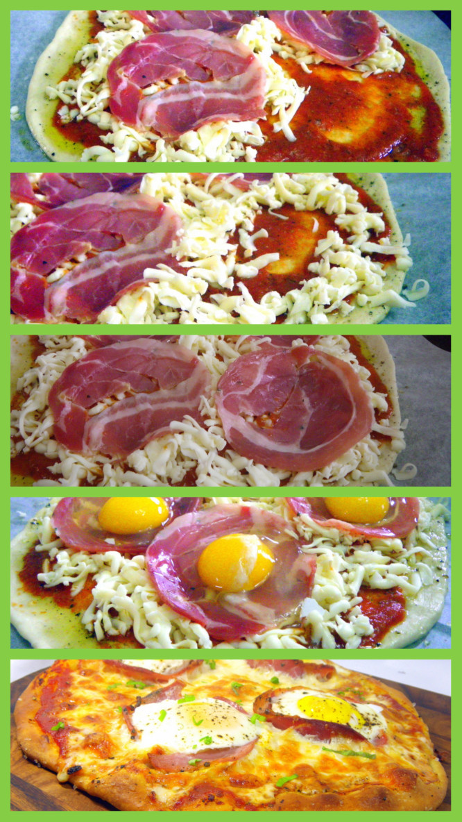 52 Ways to Cook: Bacon and Egg Pizza (Uova e pancetta Pizza)