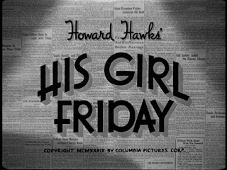 Titles for Howard Hawks' His Girl Friday