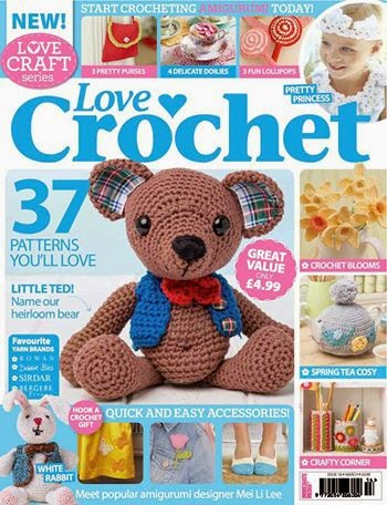 'Love crochet traditional teddy