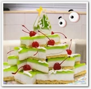 онлайн видеоурок Новогодняя елочка - торт
