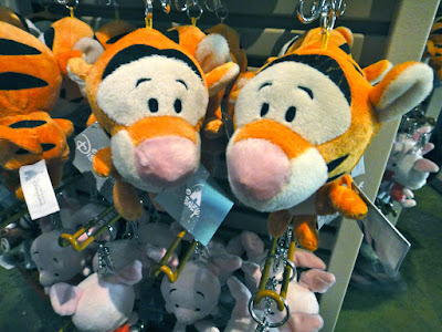 Piglet and Tigger Keychains at Hong Kong Disneyland