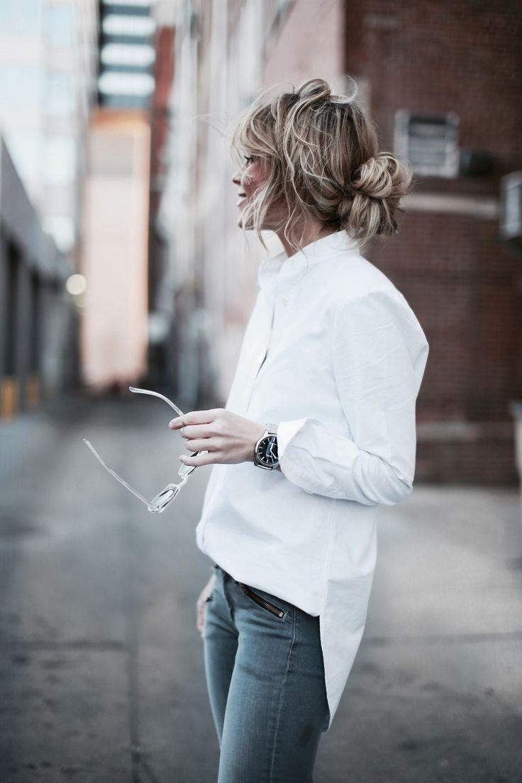 Ztilutpi Blue Jeans White Shirt
