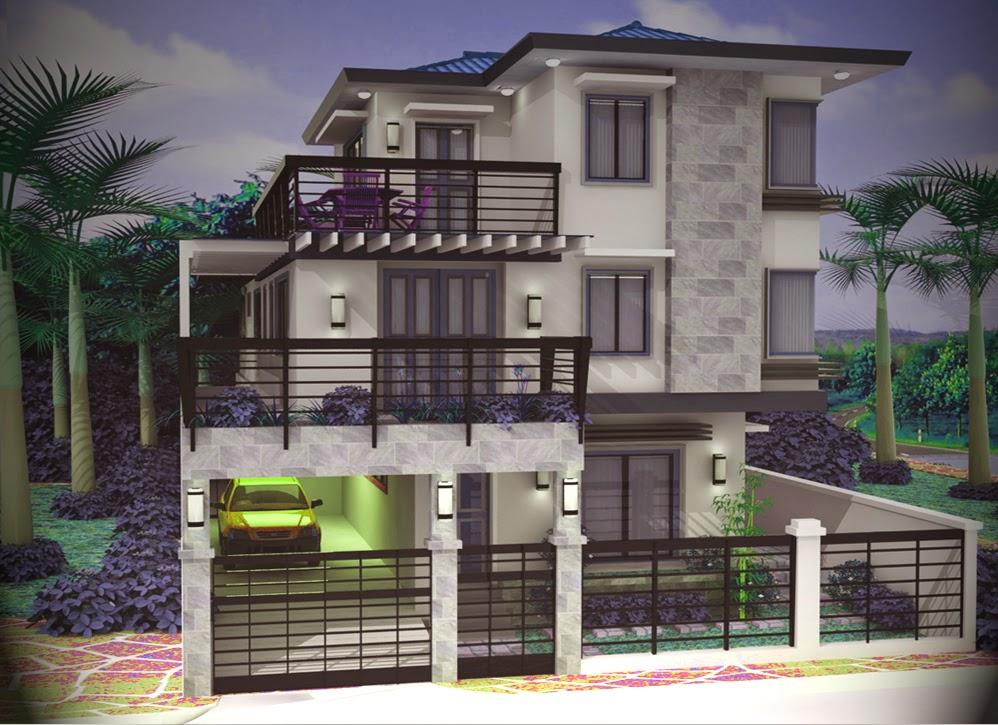 contoh desain rumah minimalis modern 3 lantai marte designs