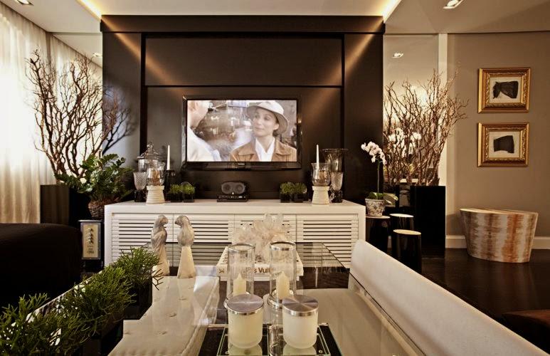 para tv – veja modelos + salas lindas!  Decor Salteado  Blog de