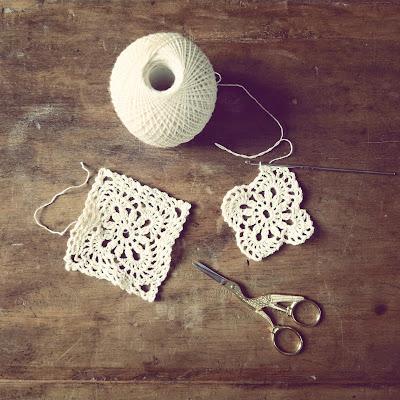 ByHaafner, crochet thread, crochet doily, squares