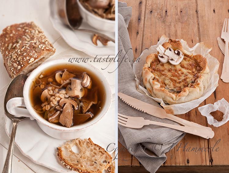Пирог грибной