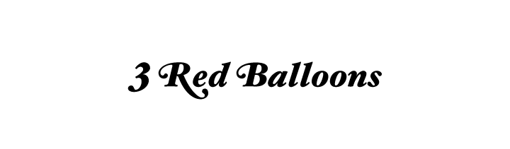 3 red balloons