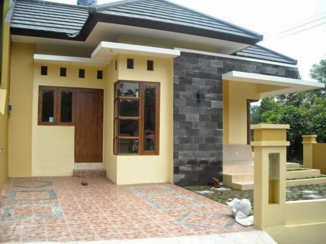 desain rumah satu lantai tampak depan