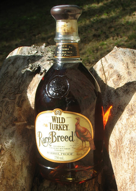 Wild Turkey Rare Breed bottle in the sunshine.