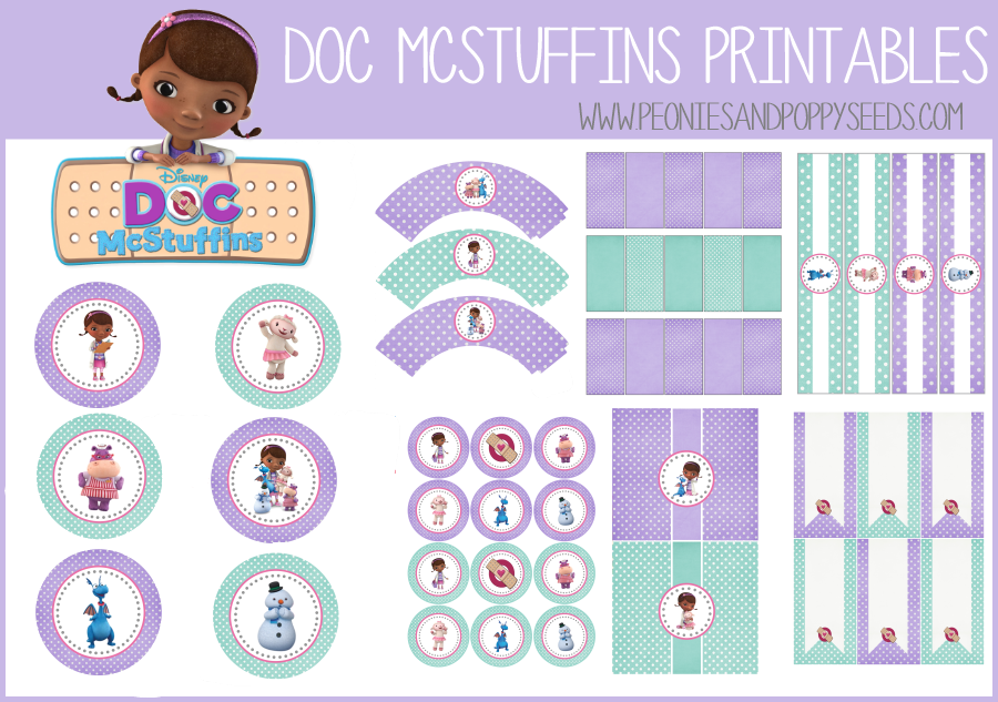 Peonies and Poppyseeds: Doc McStuffins Birthday Party Printables