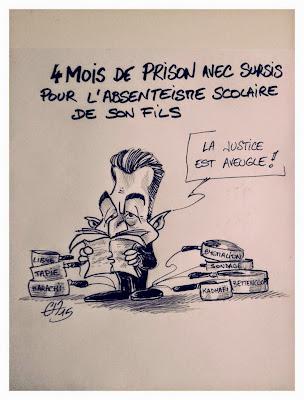 Sarkozy ouvre une quincaillerie! Impunité politique! Justice à 2 vitesses! ©Guillaume Néel