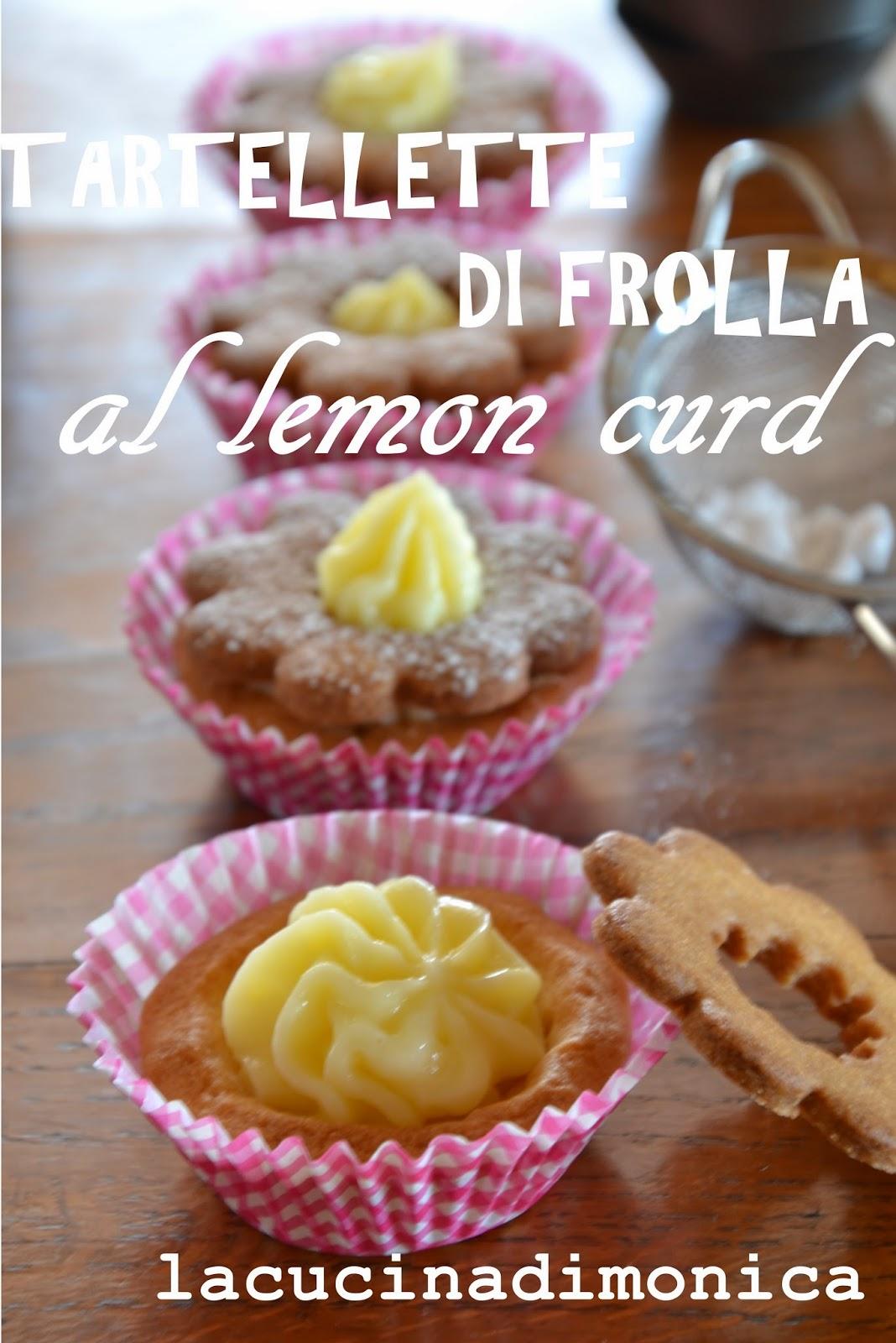 tartellette di frolla al lemon curd