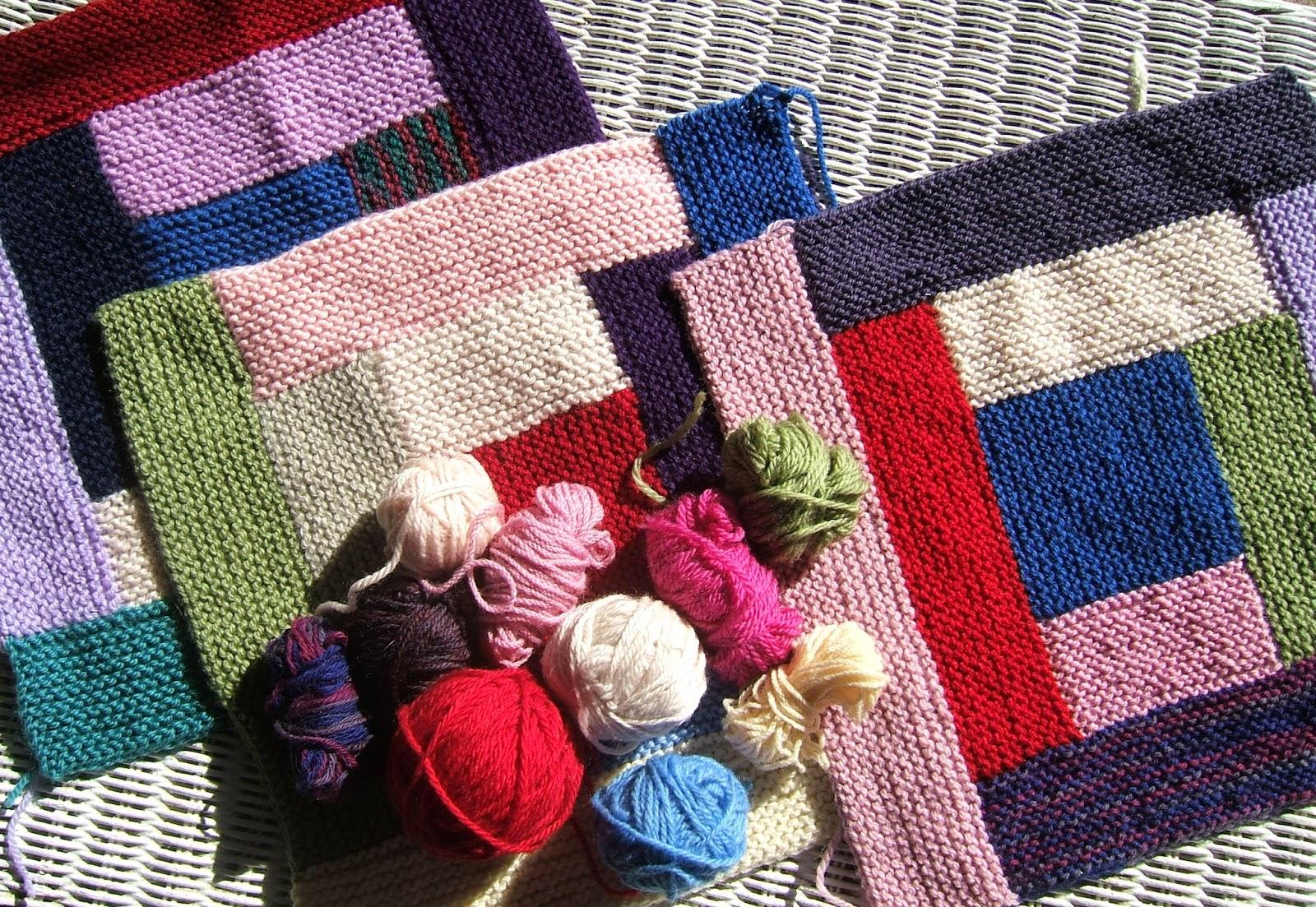 Free Knitting Pattern For Log Cabin Blanket : aussie knitting threads: Log Cabin knitted blanket