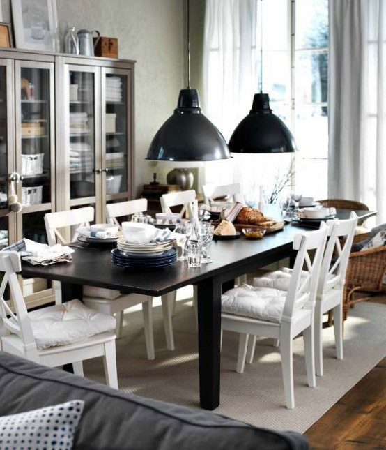 Modern Furniture: IKEA Dining Room Decorating Design Ideas 2012