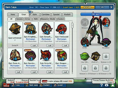 Cheat Peso Lost Saga 2 Juli 2013 Work Hero Permanent , Peso Permanent