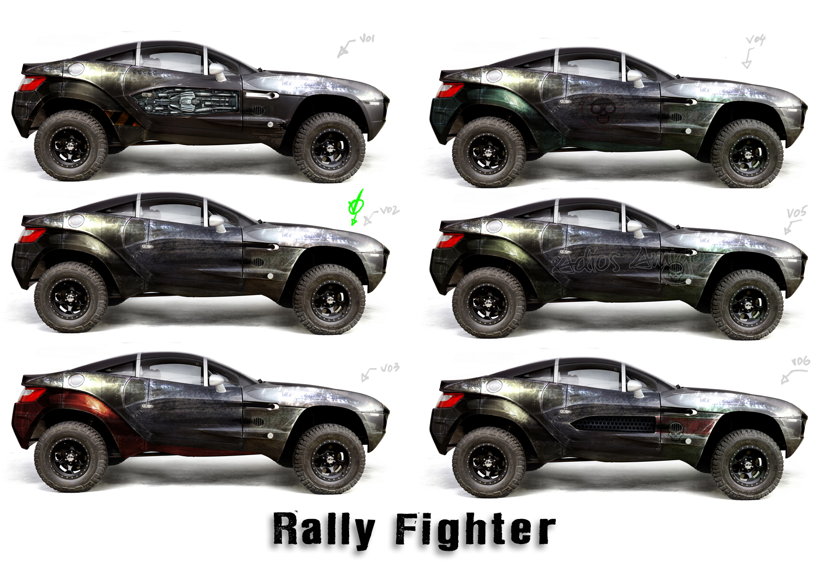 West Toad Fabrication Rally Fighter Skin Concepts