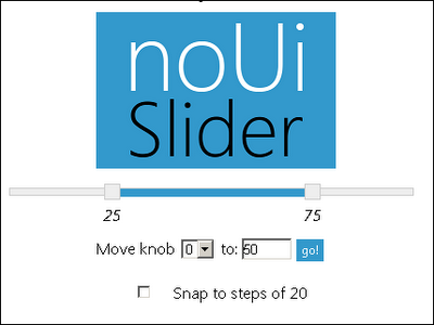 One More Jquery Slider Plugin Nouislider Jquery By Example