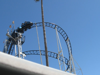 At the Top: Santa Cruz CA Beach Boardwalk Roller Coaster