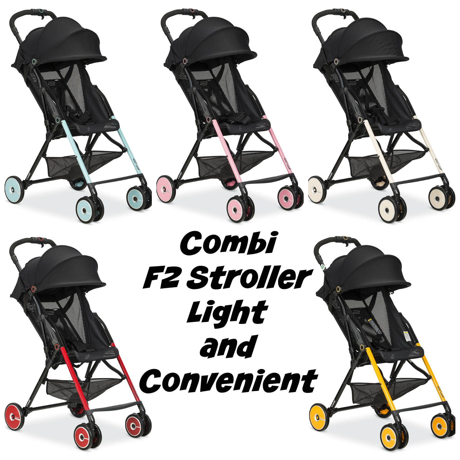 The F2 Stroller by Combi - Light and Convenient | AnnMarie John