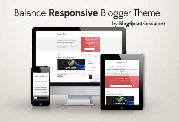 Balance Responsive Blogger Template 2014