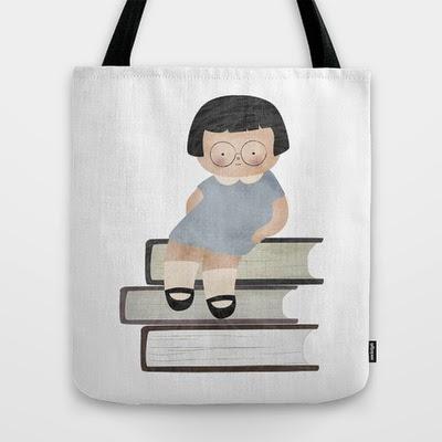bolsa tela niña libros