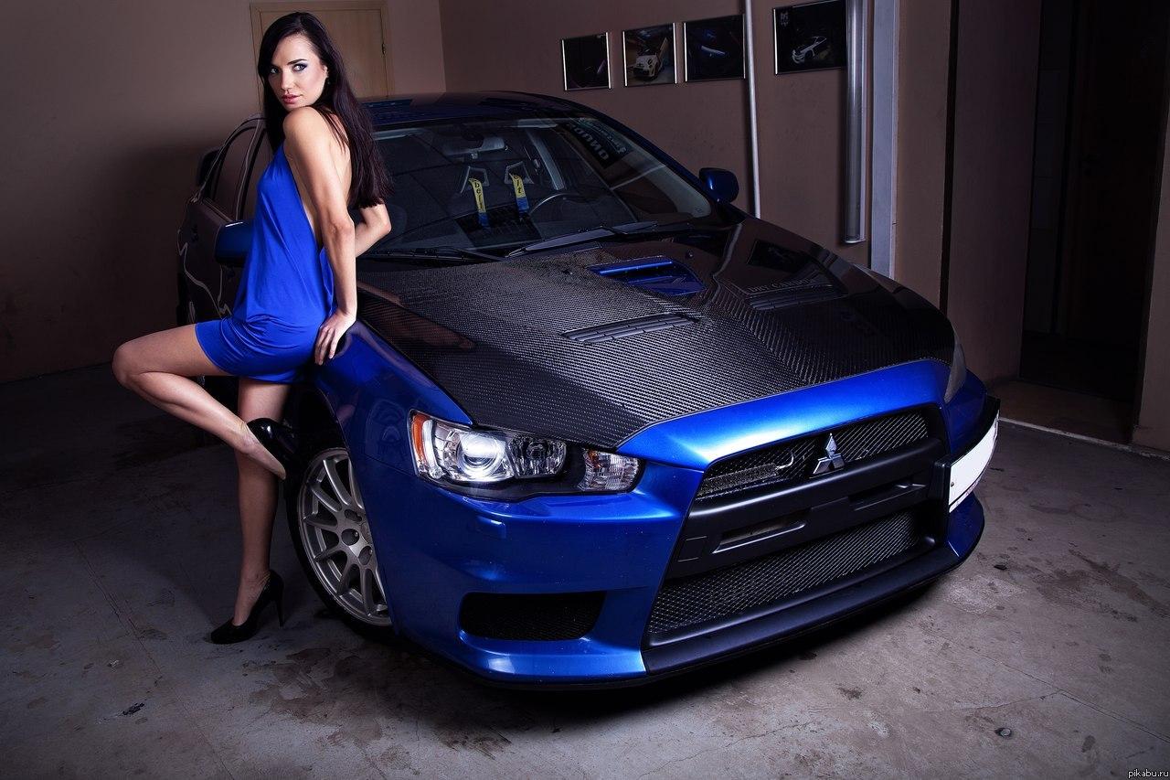japońskie samochody, dziewczyny, zdjęcia, girls, cars, mitsubishi lancer evolution x