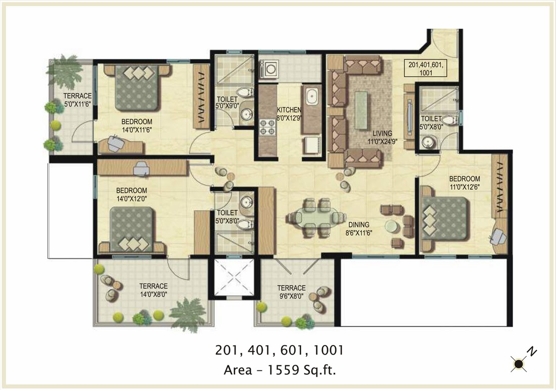 Foundation dezin decor 3 bhk floor layout 39 s 3bhk house plan