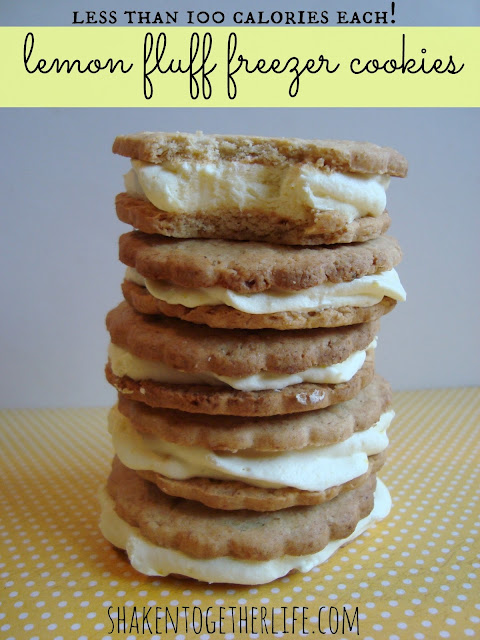 100 calorie lemon fluff freezer cookies at shakentogetherlife.com
