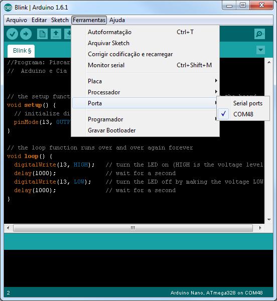 Instalando driver do arduino nano no windows erro