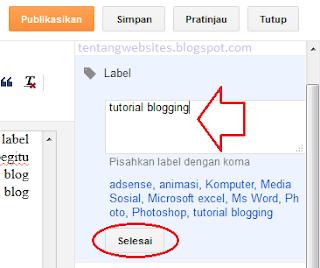 Cara mudah buat label blog