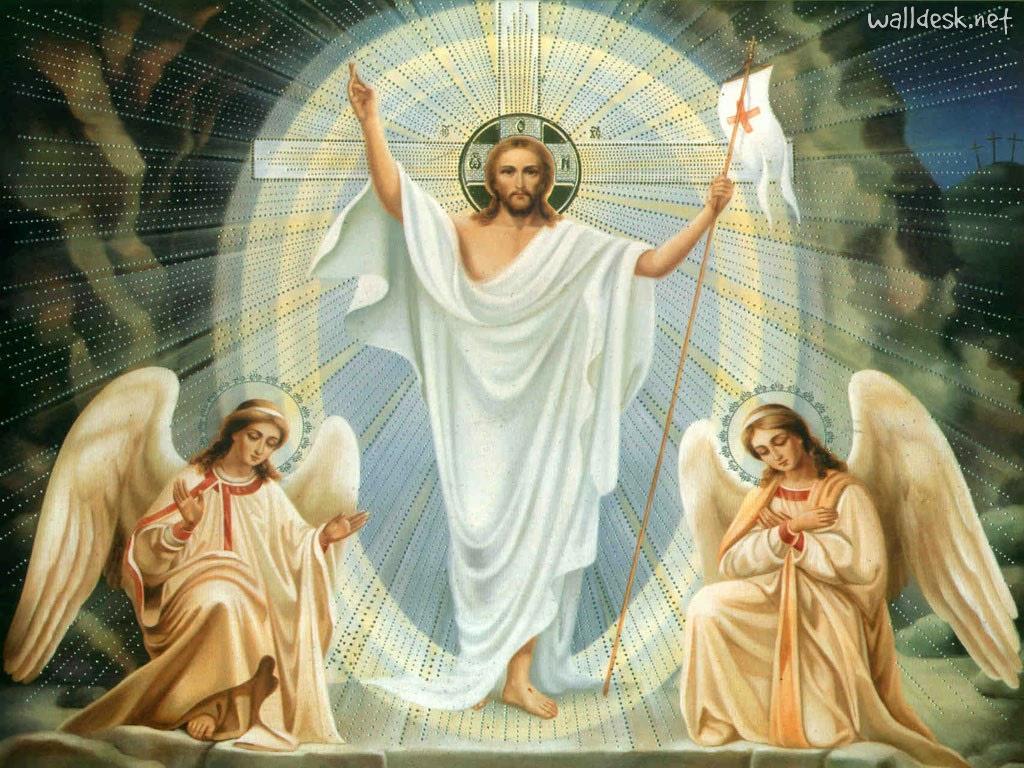 Jesús y ángeles
