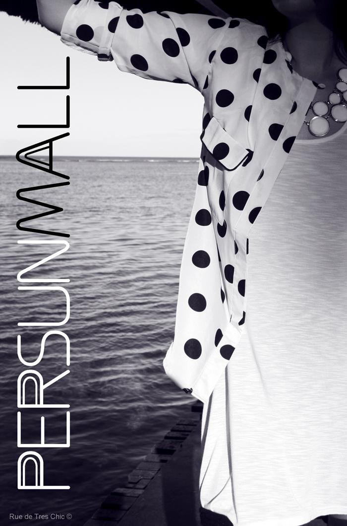 fashion style chic polka dots