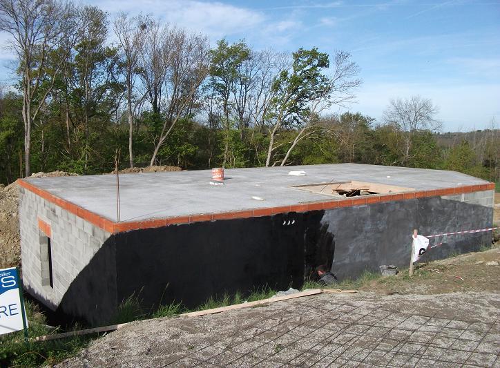 construction de notre maison avec c lia cr ation tanch it des murs enterr s. Black Bedroom Furniture Sets. Home Design Ideas