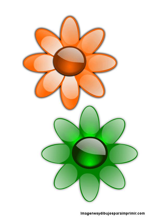 Flores de colores para imprimir