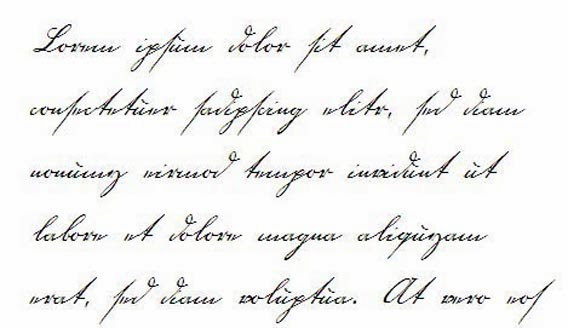 Handwriting Types