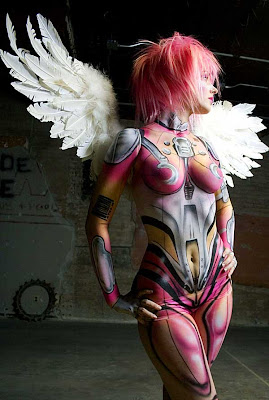 15 hot cosplay Angel Bodypaint