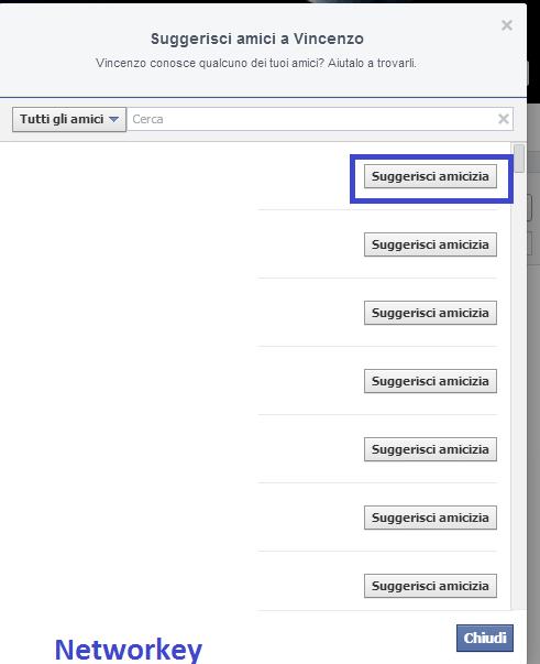 Suggerimenti Facebook