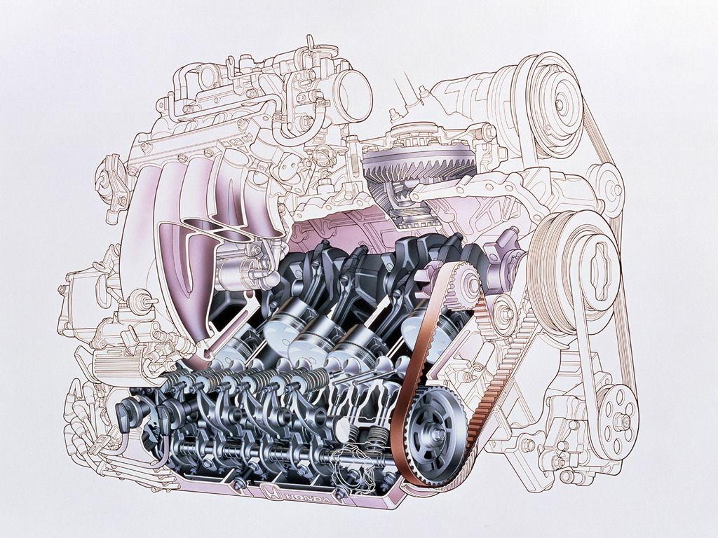 Honda, silnik, pięć cylindrów, R5, straight 5, G20A, G25A, 5-cylinder, engine, JDM