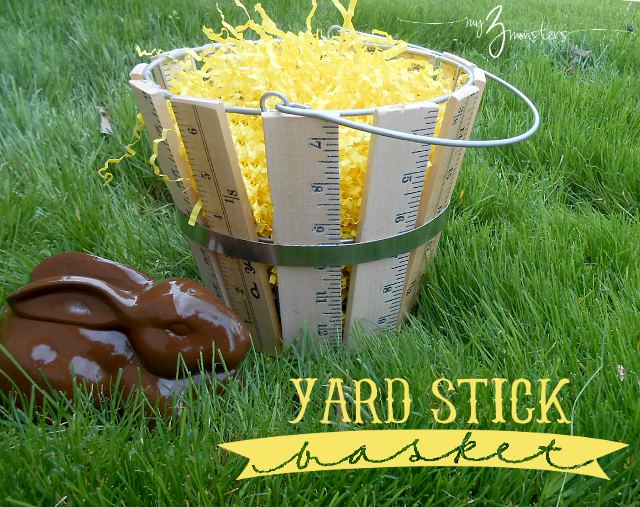 How to make a decorative basket out of yardsticks.