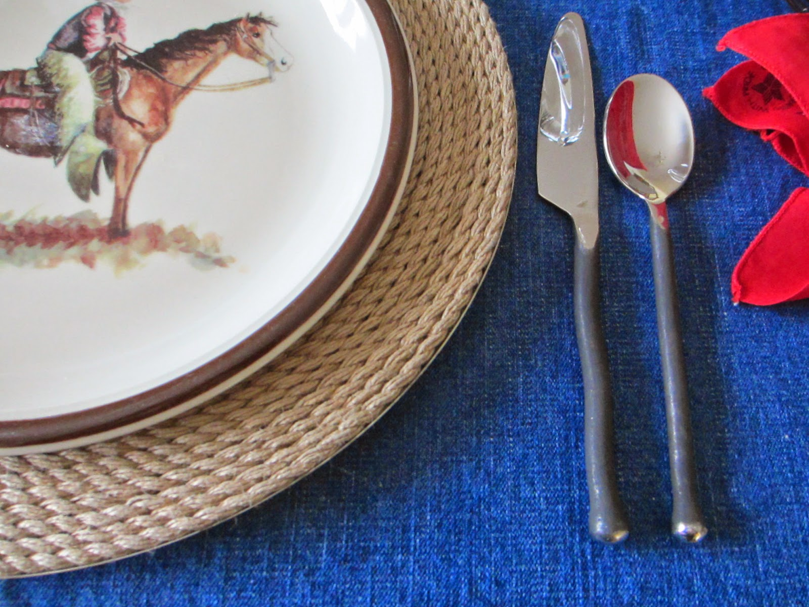 Yes we just used the flatware last week but it was the perfect choice for this week\u0027s table - \ Montana\  by Gourmet Settings & The Welcomed Guest: Cowboy Reflections Tablescape