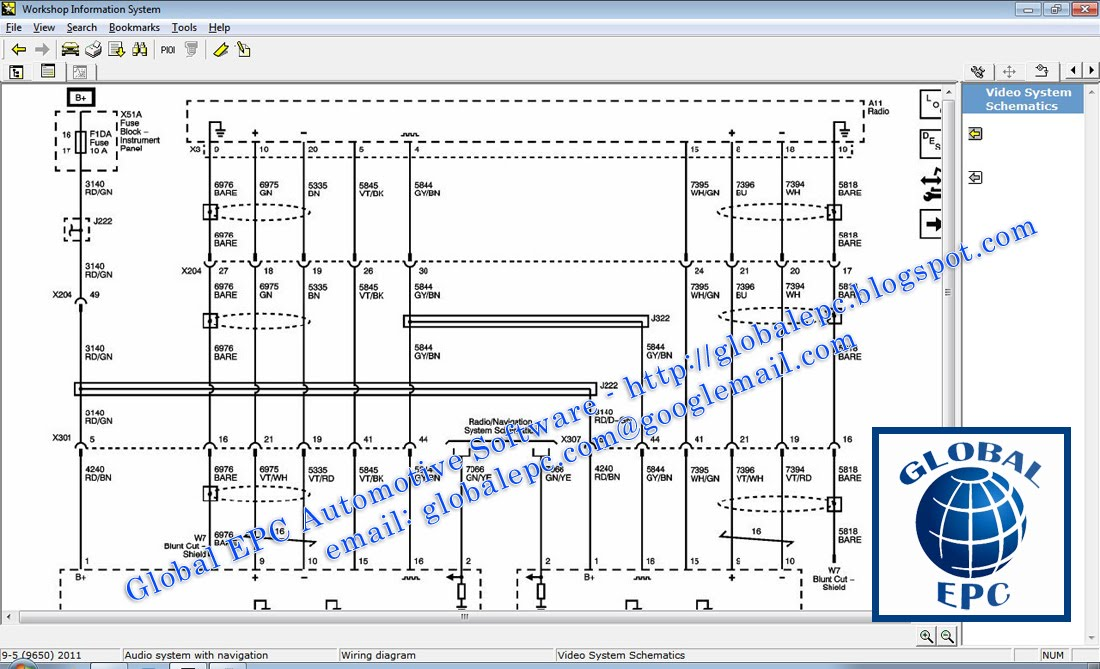 Global Epc Automotive Software  Saab Wis Workshop Information System 2010